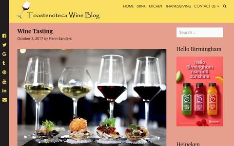 Screenshot of Home Page toastenoteca.com - Toastenoteca Wine Blog - Live a Lively Life - captured Nov. 26, 2018