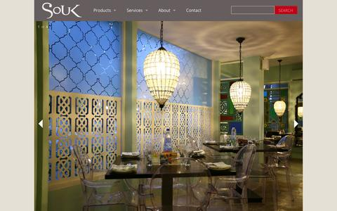 Screenshot of Home Page soukonline.in - Souk | Singular Furniture and Accessories - captured Feb. 15, 2016