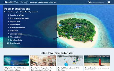 Screenshot of Home Page holidaywatchdog.com - Holiday Reviews & Hotel Reviews - captured Dec. 12, 2018