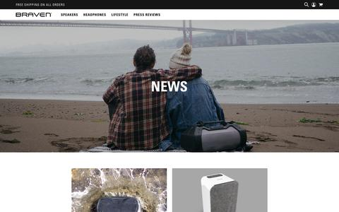Screenshot of Press Page braven.com - Braven Audio News - captured Aug. 1, 2018