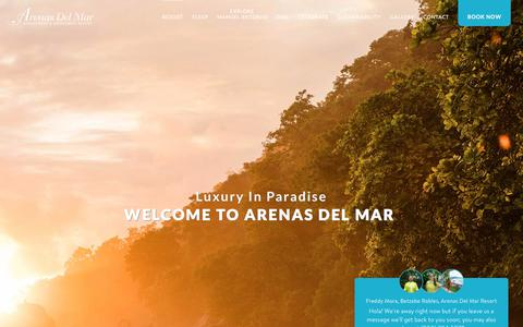 Screenshot of About Page arenasdelmar.com - About Arenas del Mar Manuel Antonio's only luxury beachfront hotel - captured Sept. 22, 2018
