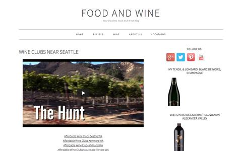 Screenshot of Locations Page washingtonpostwine.com - Wine Clubs Near Seattle - Food And Wine - captured Nov. 19, 2017