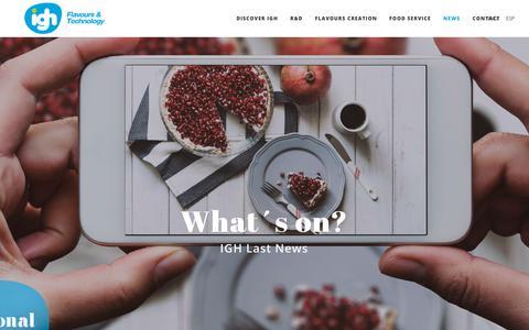 Screenshot of Press Page igharoma.com - News – IGH - captured Sept. 29, 2017