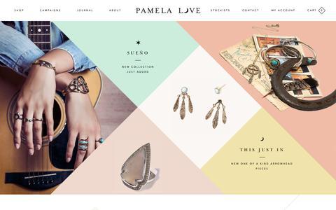 Screenshot of Home Page pamelalovenyc.com - Pamela Love - captured Oct. 16, 2015
