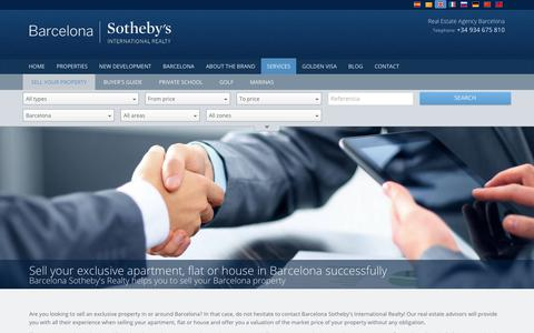 Screenshot of Services Page barcelona-sothebysrealty.com - Sell Your Barcelona Property | Sell Your Barcelona Apartment, Flat or House - captured Feb. 12, 2018