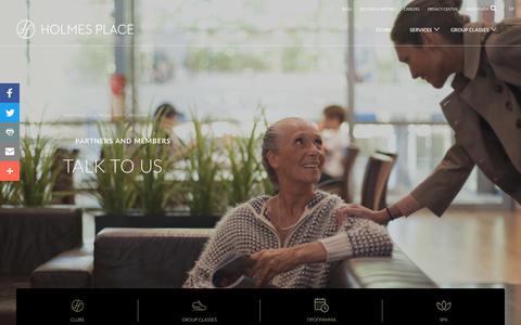 Screenshot of Contact Page holmesplace.com - Επικοινωνήστε Μαζί Μας | Holmes Place Greece - captured Sept. 29, 2018