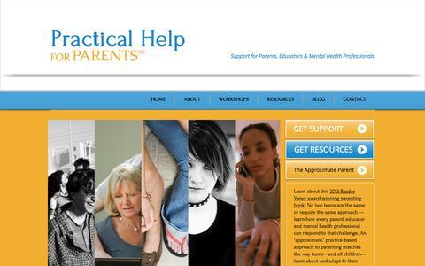 Screenshot of Contact Page practicalhelpforparents.com - Practical Help for Parents - captured Sept. 30, 2014