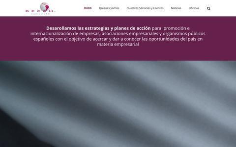 Screenshot of Home Page decomconsultores.com - Decom ConsultoresHome - captured Oct. 5, 2014