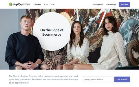 Screenshot of Case Studies Page shopify.com - The Shopify Partner Program — On the Edge of Ecommerce - captured Dec. 5, 2017