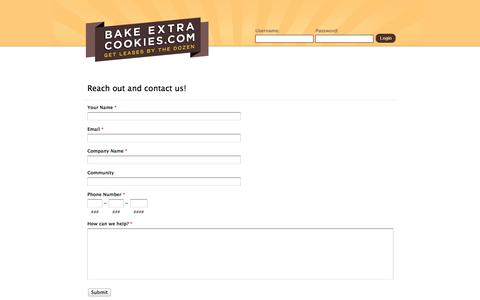 Screenshot of Contact Page Signup Page bakeextracookies.com - BakeExtraCookies: Your Property Advertising Platform - captured Oct. 23, 2014