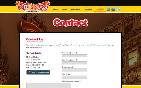 Screenshot of Contact Page chidogos.com - Contact | Chidogos - captured Sept. 29, 2014