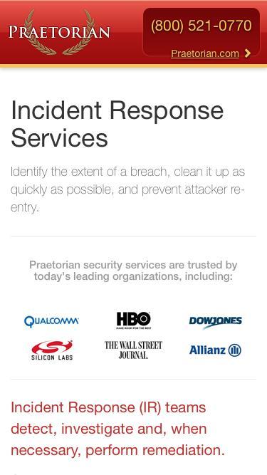 Incident Response Services |  Praetorian