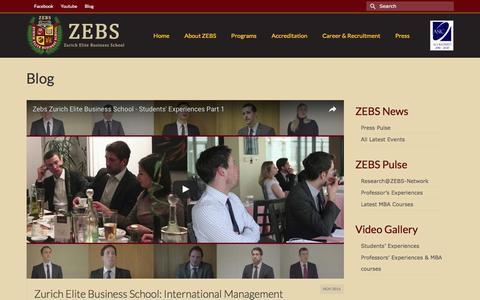 Screenshot of Blog zebs.ch - Blog | ZEBS | Zurich Elite Business School - captured Dec. 18, 2016