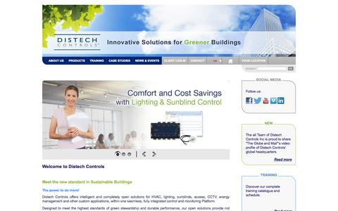 Screenshot of About Page Contact Page Case Studies Page distech-controls.eu - Welcome to Distech Controls - Distech Controls - captured Oct. 23, 2014