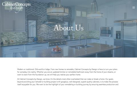 Screenshot of About Page cabinetconceptsbydesign.com - About Us — Cabinet Concepts By Design - captured Dec. 7, 2018