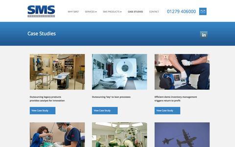 Screenshot of Case Studies Page smstl.com - Case Studies - Medical Equipment Manufacturer - captured Oct. 3, 2014