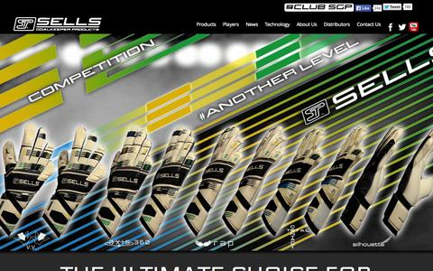 Screenshot of Home Page sellsgoalkeeperproducts.com - Sells Goalkeeper Products - captured Oct. 3, 2014