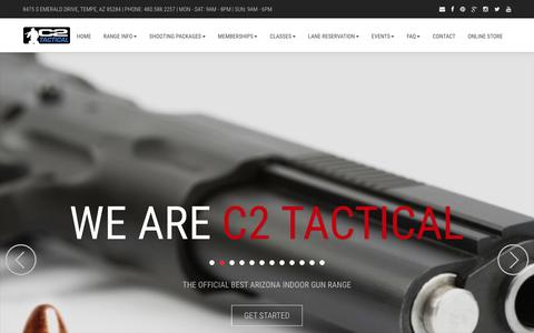 Screenshot of Home Page c2tactical.com - C2 Tactical Gun Range - Voted Best Indoor Range in Arizona - captured May 12, 2017