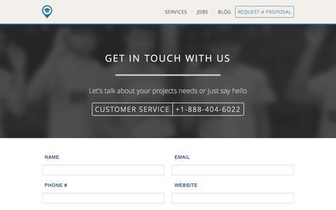 Screenshot of Contact Page biggermarkets.com - Bigger Markets | College Marketing | On-Campus Marketing | Campus Street Teams | Marketing to Generation Y - captured Nov. 3, 2014