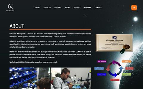 Screenshot of About Page gumush.com.tr - About | Gümüş Uzay Savunma Havacılık - captured Nov. 10, 2018