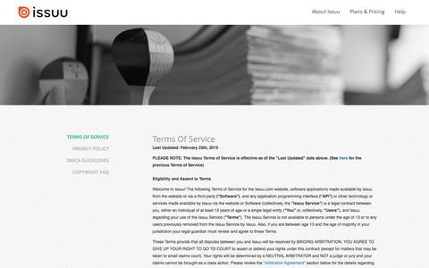 Issuu terms of service