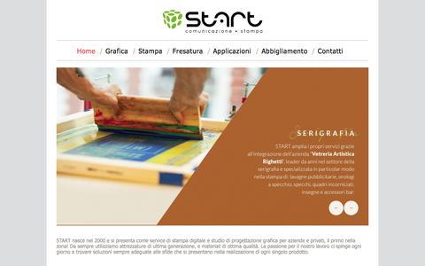 Screenshot of Home Page start-fano.com - Agenzia di pubblicità, marketing e siti web Fano - Start Fano - captured Oct. 3, 2014