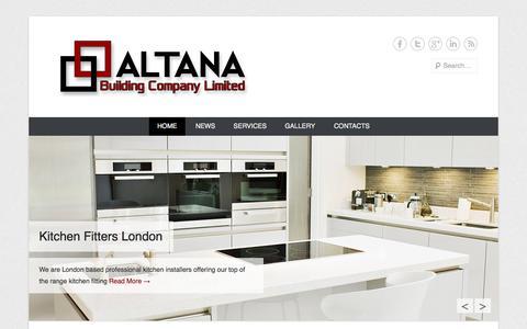 Screenshot of Home Page Menu Page altanabuilding.co.uk - Altana Building Co. Ltd - Structural & Specialist Construction - captured Oct. 4, 2014