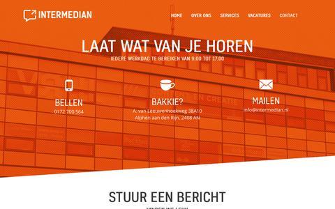 Screenshot of Contact Page intermedian.nl - Contact Intermedian | Laat wat van je horen, vinden we leuk - captured June 8, 2017