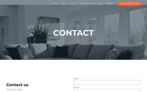 Screenshot of Contact Page renegadefurniture.com - CONTACT – Renegade Furniture Group - captured June 7, 2019