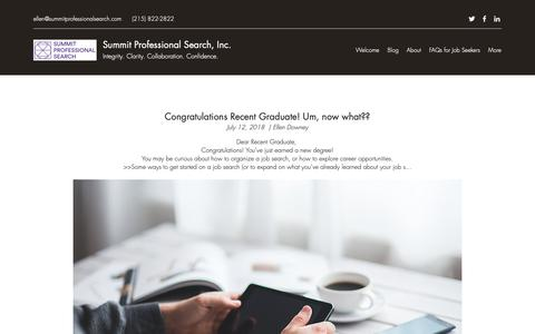 Screenshot of Blog summitprofessionalsearch.com - Blog | Summit Professional Search, Inc. - captured Oct. 19, 2018