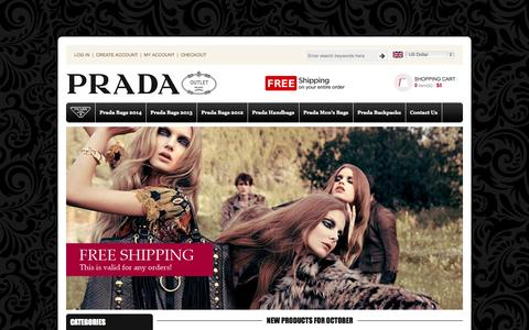 Screenshot of Home Page imrah.org - Wholesale Discount Prada Handbags On Sale, Prada Bags Outlet Usa Online Store - captured Oct. 6, 2014