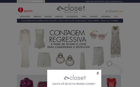 Screenshot of Home Page e-closet.com.br - e-Closet | O primeiro e-commerce de moda premium do Brasil - captured Dec. 14, 2015