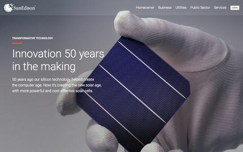 Screenshot of Home Page sunedison.com - SunEdison - captured Oct. 2, 2015