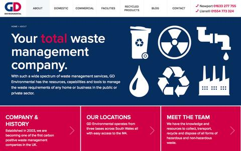 Screenshot of About Page gd-environmental.co.uk - About us | GD Environmental - captured Oct. 1, 2014