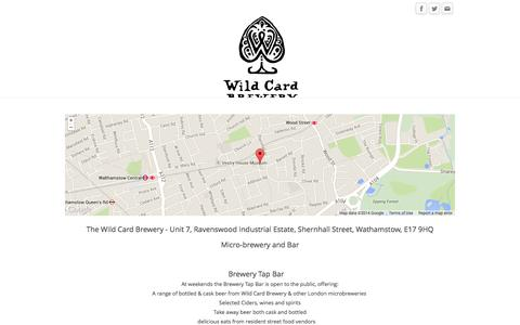 Screenshot of Home Page wildcardbrewery.co.uk - Wild Card Brewery - Home - captured Oct. 9, 2014