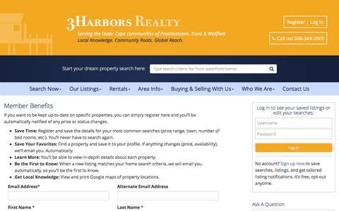 Screenshot of Signup Page 3harborsrealty.com - 3Harbors Realty - captured June 11, 2017