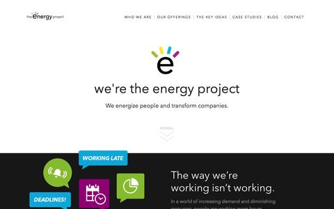 Discover A Better Way of Working | The Energy Project