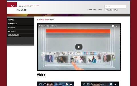 Screenshot of Testimonials Page 4dlabs.ca - Video - 4D LABS - Simon Fraser University - captured Sept. 30, 2017