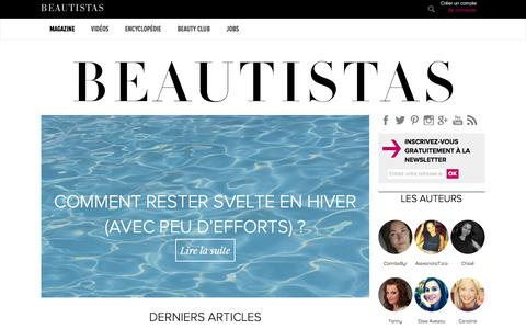 Screenshot of Home Page beautistas.com - BEAUTISTAS - captured Dec. 28, 2015