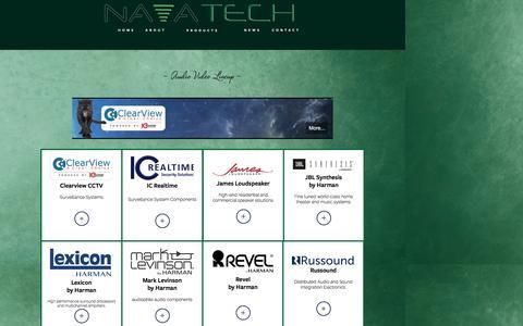 Screenshot of Products Page navigantreps.com - Products - captured Nov. 29, 2016