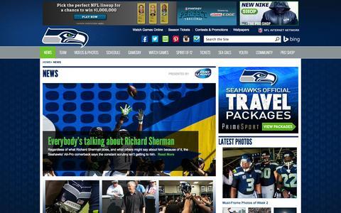 Screenshot of Press Page seahawks.com - News - captured Sept. 18, 2014
