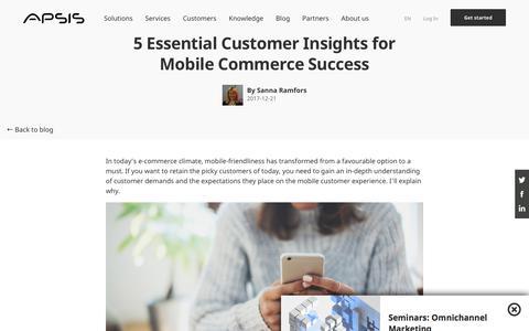 Screenshot of Case Studies Page apsis.com - 5 Customer Insights for M-Commerce Success in 2018   APSIS - captured Nov. 6, 2019