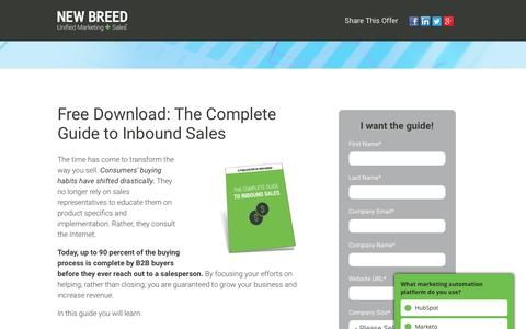 Download | Complete Guide to Inbound Sales
