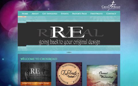 Screenshot of Home Page crossroadsouthbay.com - CrossRoad Ministries - captured Feb. 1, 2016