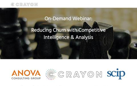 Screenshot of Landing Page crayon.co - Reducing Churn with Competitive Intelligence and Analysis - captured Nov. 26, 2019
