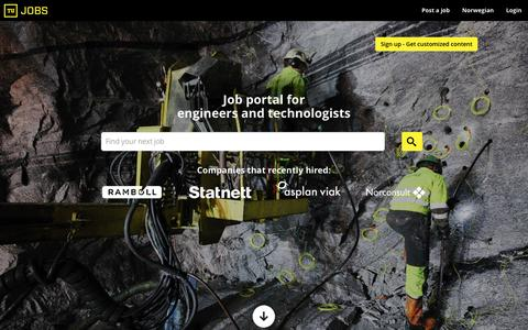 Screenshot of Jobs Page tujobs.com - Find a Job in the Oil, Gas and Subsea industry - Find Offshore or Oilfield jobs at Tujobs - captured Aug. 17, 2016