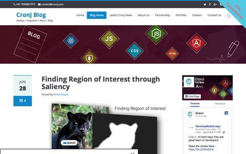 Screenshot of Blog cronj.com - CronJ Blog - Node.js | AngularJS | React | Blog - captured July 4, 2019