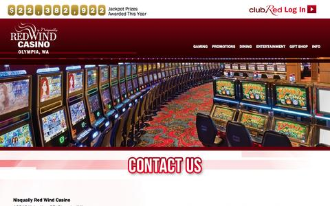 Screenshot of Contact Page redwindcasino.com - Contact Us | Red Wind Casino - captured Nov. 20, 2015