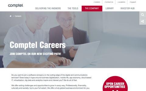 Screenshot of Jobs Page comptel.com - Careers - captured Dec. 10, 2015