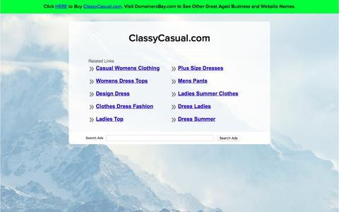 Screenshot of Home Page classycasual.com - ClassyCasual.com - captured July 18, 2018